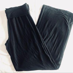 Gap black wide leg yoga/lounge pants